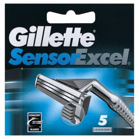 Gillette Sensor Excel skutimosi peiliukai 5 vnt