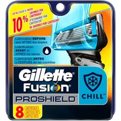 Gillette Fusion ProShield Chill skutimosi peiliukai 8 vnt