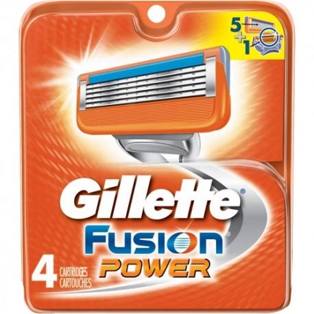 Gillette Fusion POWER skutimosi peiliukai 4 vnt
