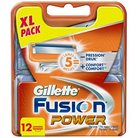 Gillette Fusion POWER skutimosi peiliukai 12 vnt